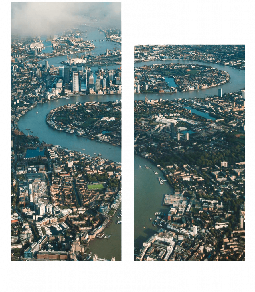 London skyline looking east
