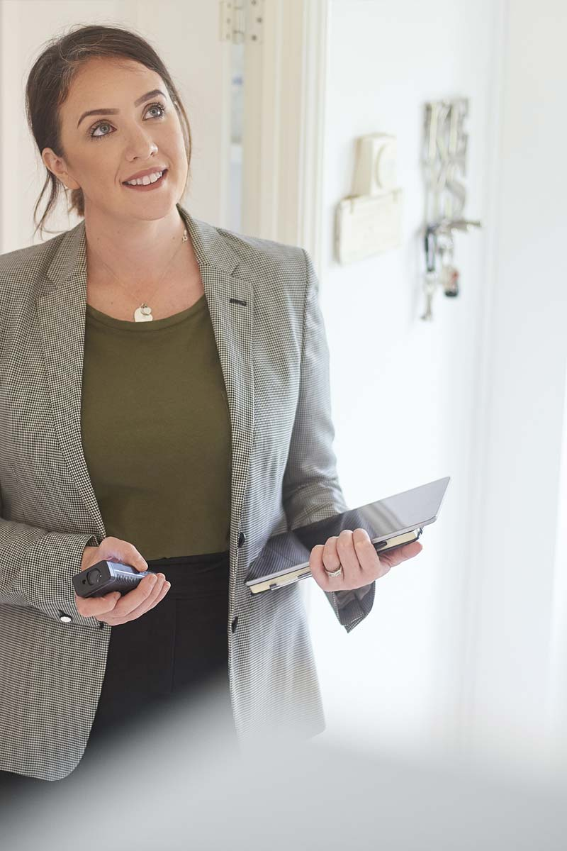 Residential agent in a property